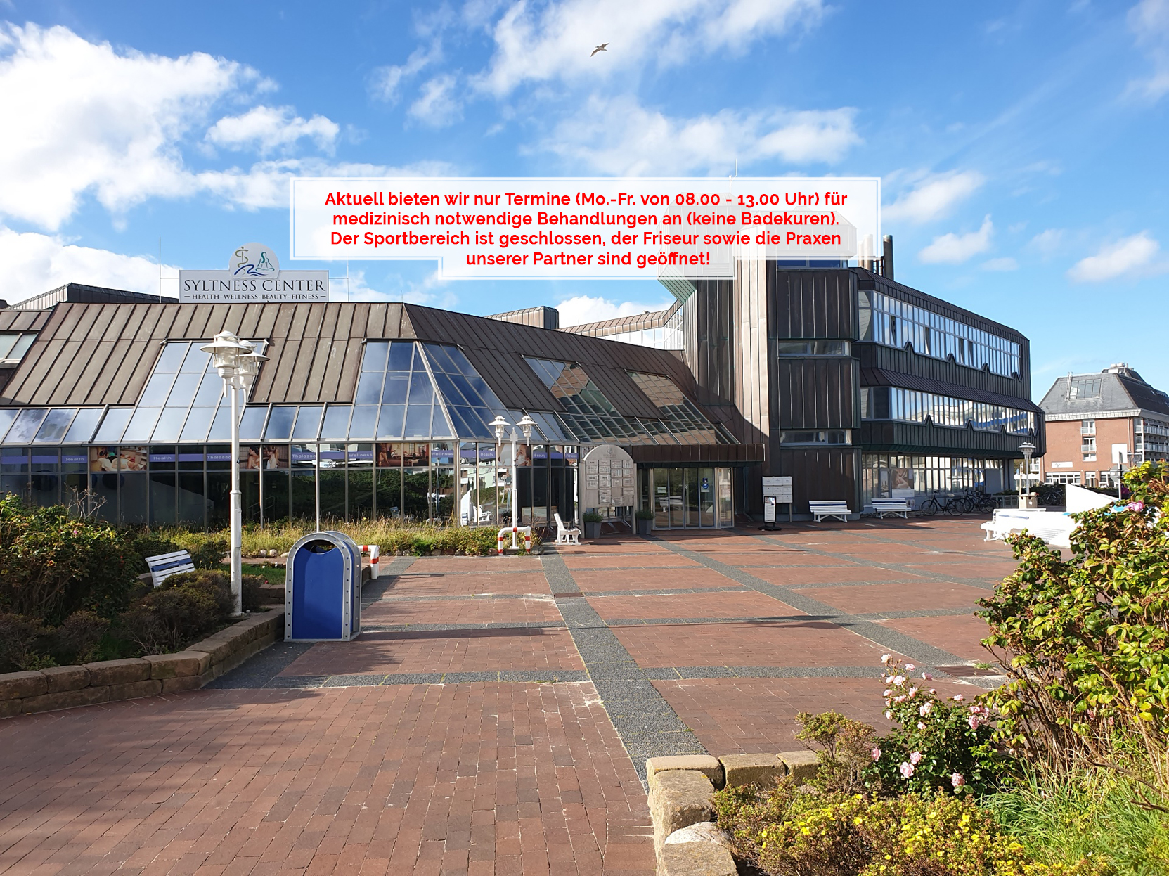 Syltness Center geschlossen